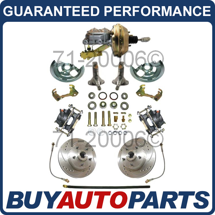 Details about 62 63 64 65 66 67 CHEVY II NOVA FRONT DISC BRAKE KIT