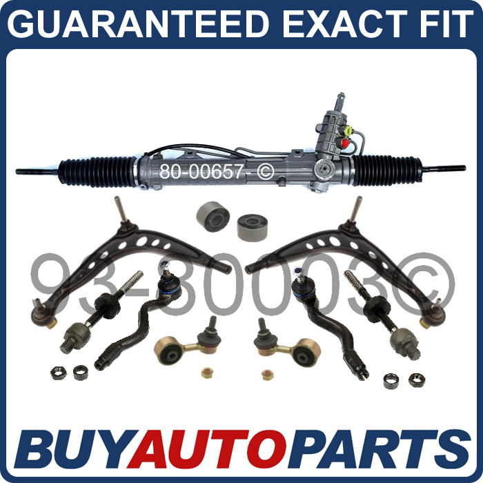 Details about NEW BMW E36 STEERING RACK AND PINION & SUSPENSION KIT