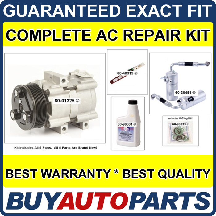 FORD EXPEDITION AC REPAIR KIT NEW COMPRESSOR 98   02