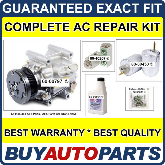 NEW-AC-COMPRESSOR-CLUTCH-WITH-COMPLETE-A-C-REPAIR-KIT-FOR-JAG-S-TYPE-LINCOLN