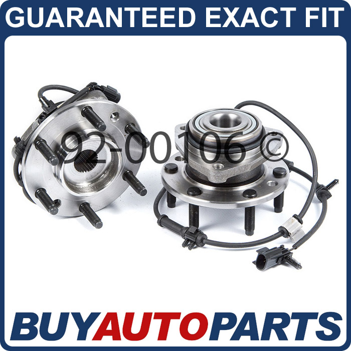 PAIR CHEVY TRAILBLAZER FRONT WHEEL HUB BEARINGS 02   09
