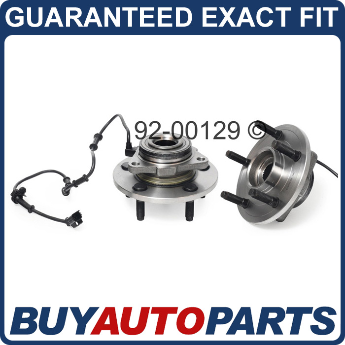 Pair Dodge RAM 1500 Front Wheel Hub Bearings 02 08