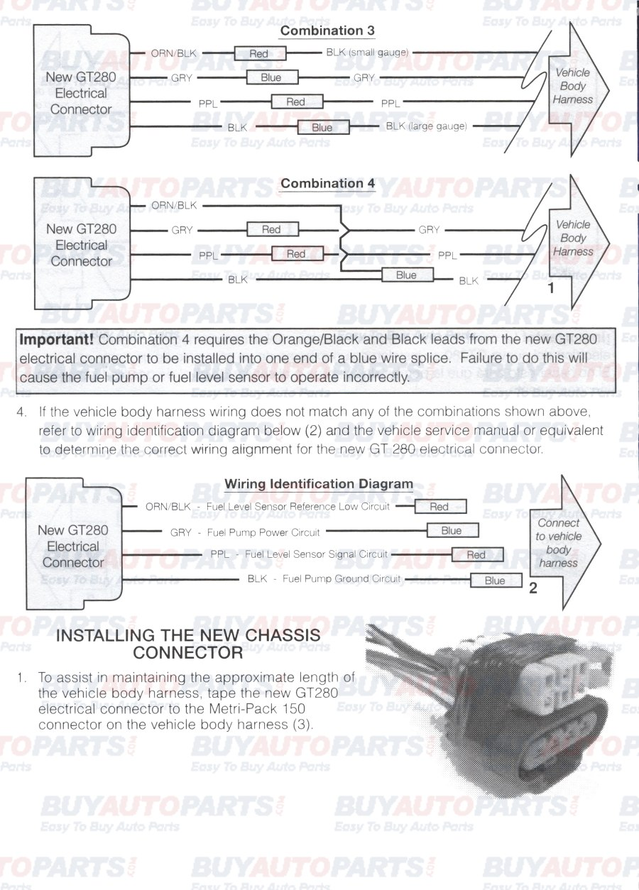 Fuel Pump Install Wiring Instructions