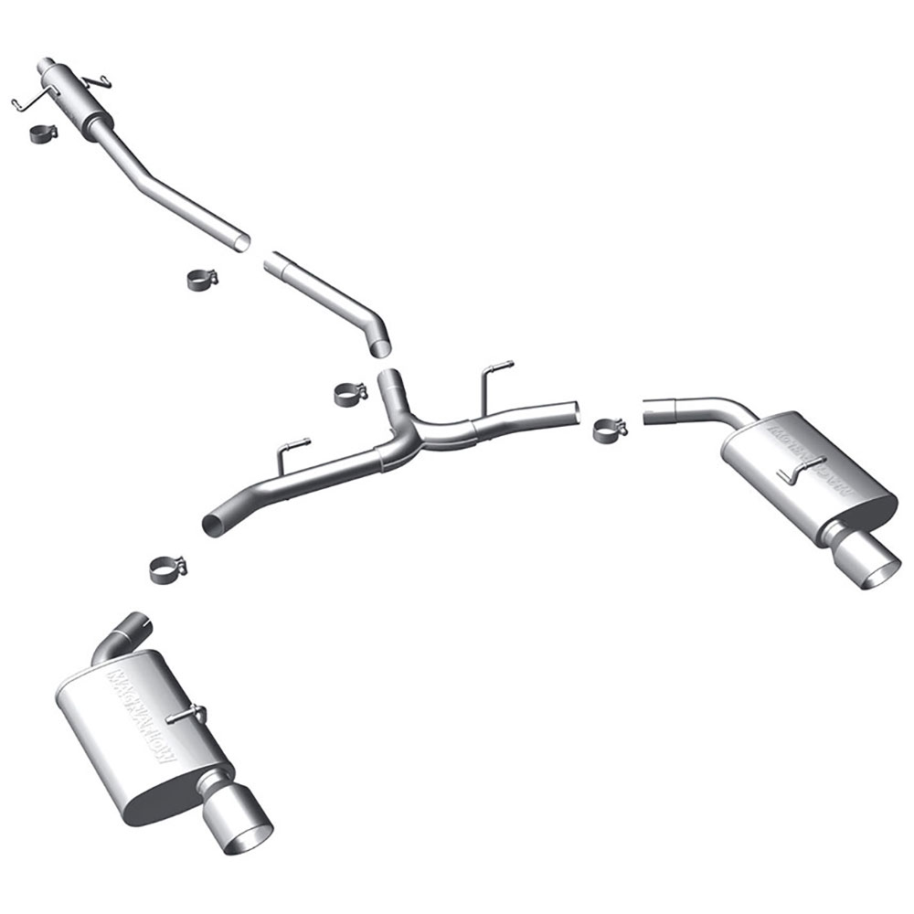 Ford Fusion Cat Back Performance Exhaust
