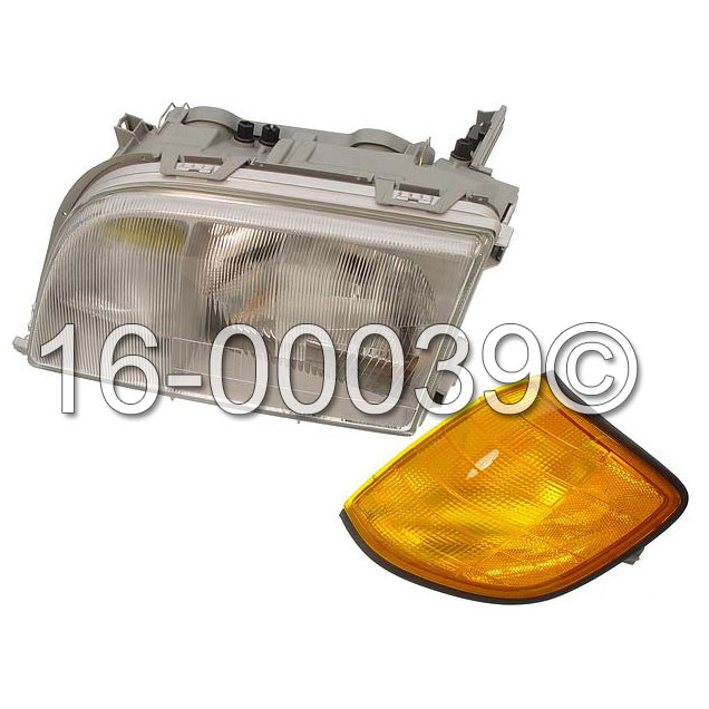 Mercedes Benz 400SEL Headlight Assembly