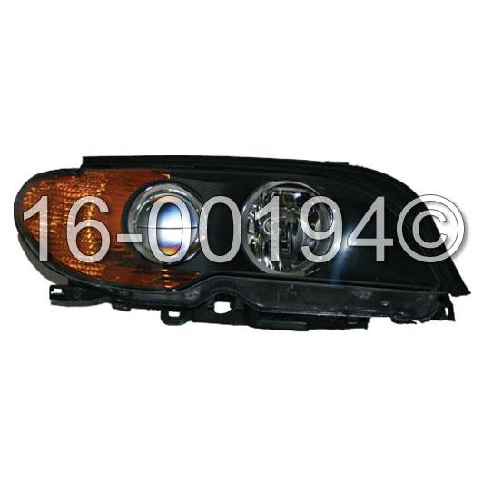 2004 BMW 325Ci Headlight Assembly Pair Pair