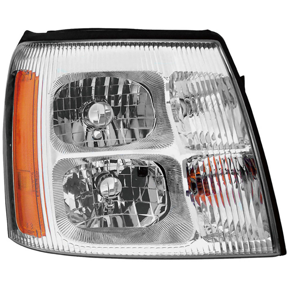 Pair New Left Right Headlight Assembly For Cadillac