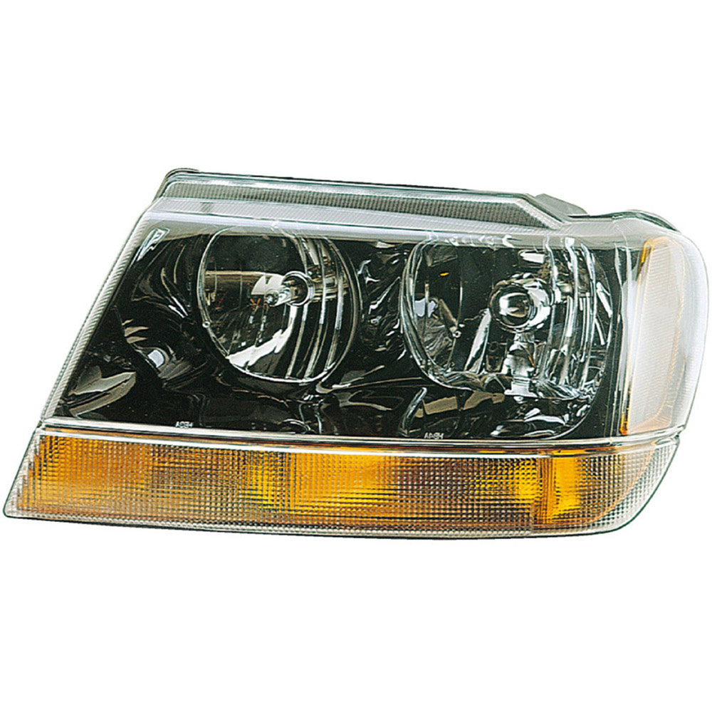 2002 jeep grand cherokee headlight assembly left driver side with amber park light laredo. Black Bedroom Furniture Sets. Home Design Ideas