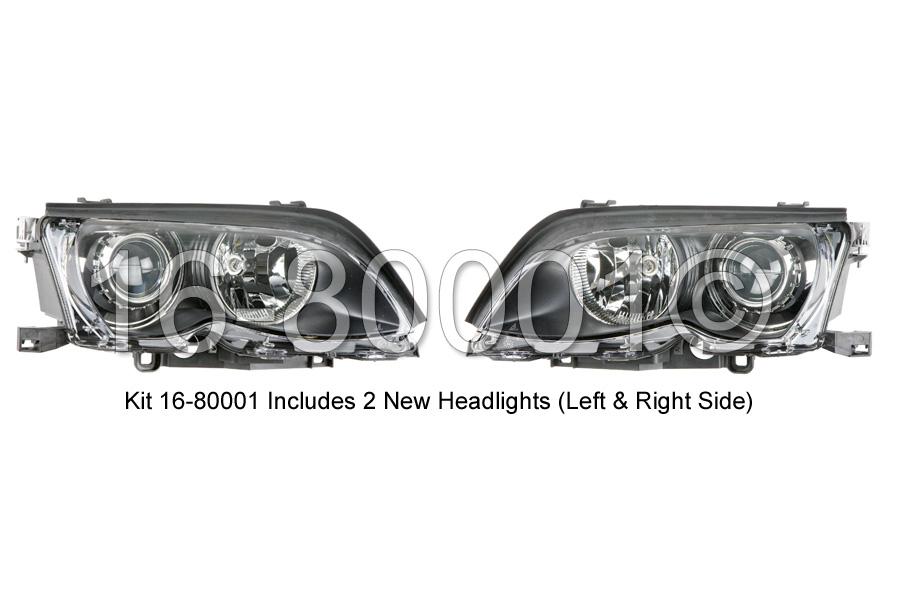 BMW 325Ci Headlight Assembly Pair