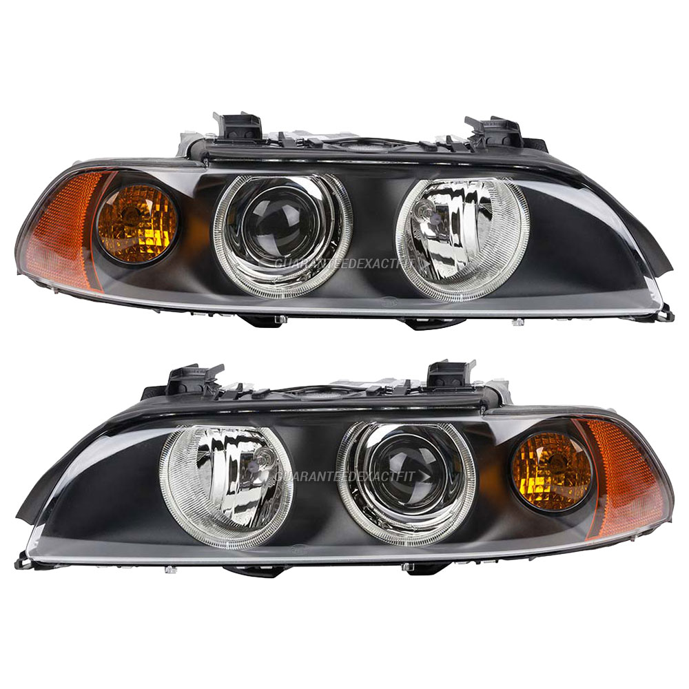 BMW 540 Headlight Assembly Pair