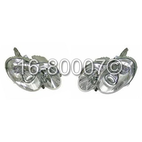Mercedes Benz CLK500 Headlight Assembly Pair