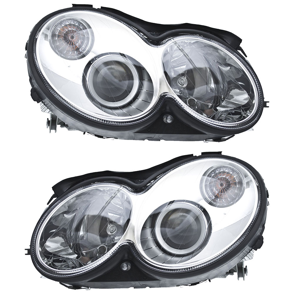 Mercedes Benz CLK63 AMG Headlight Assembly Pair
