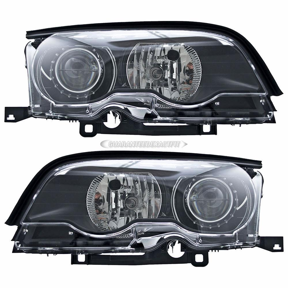 BMW 325Ci Headlight Assembly Pair