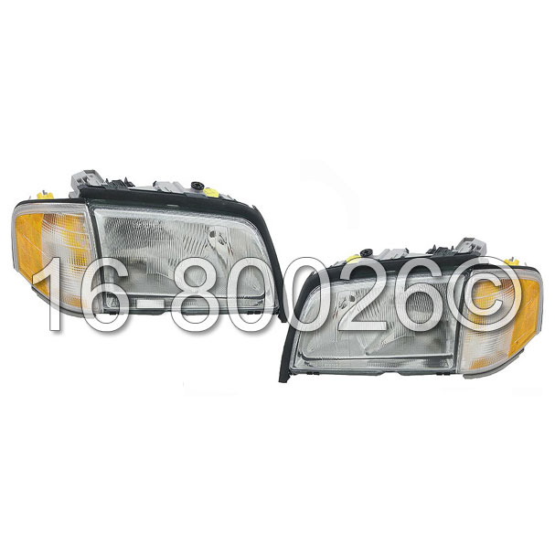 Mercedes Benz C36 AMG Headlight Assembly Pair