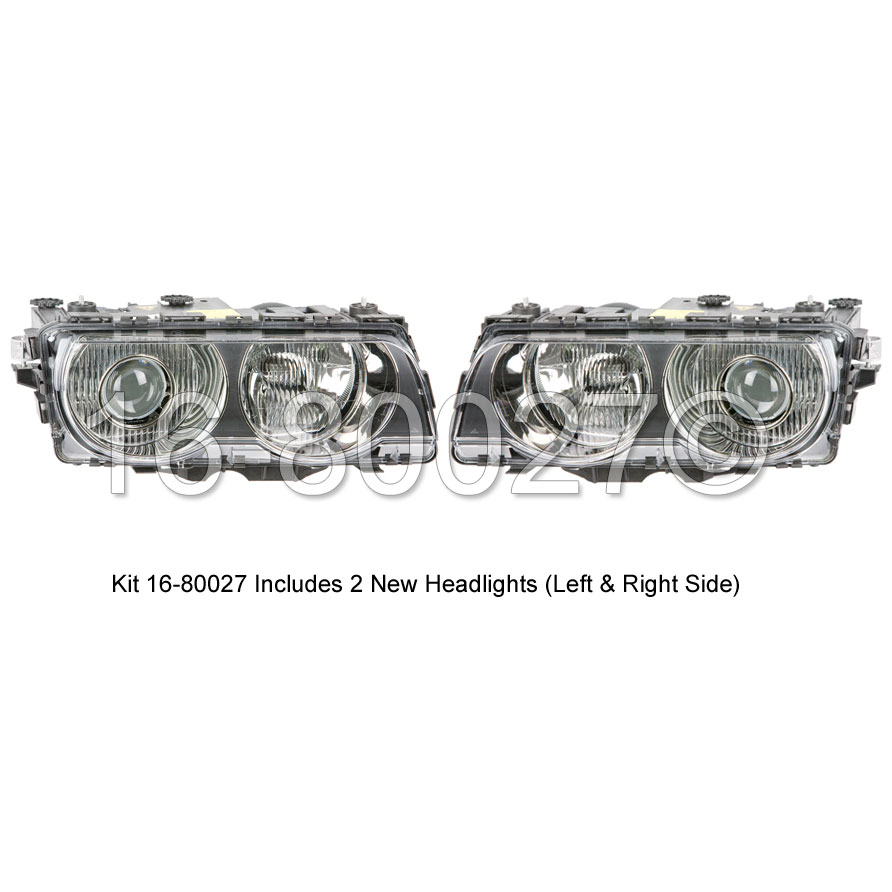 BMW 740 Headlight Assembly Pair