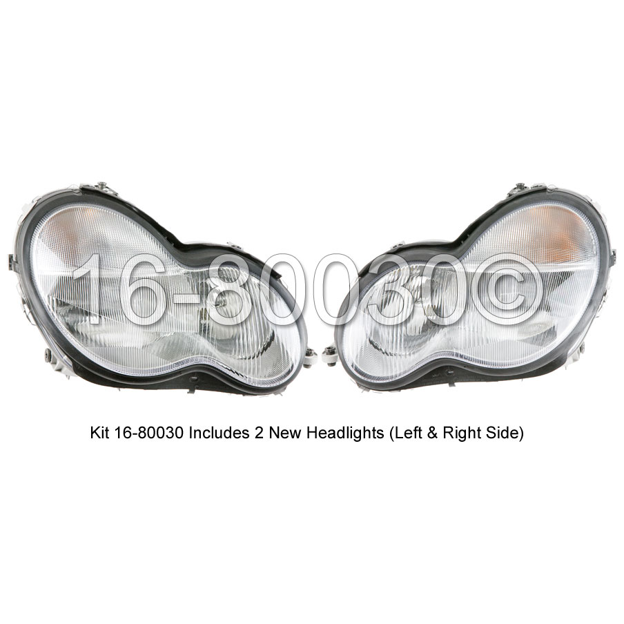 Mercedes_Benz C320 Headlight Assembly Pair