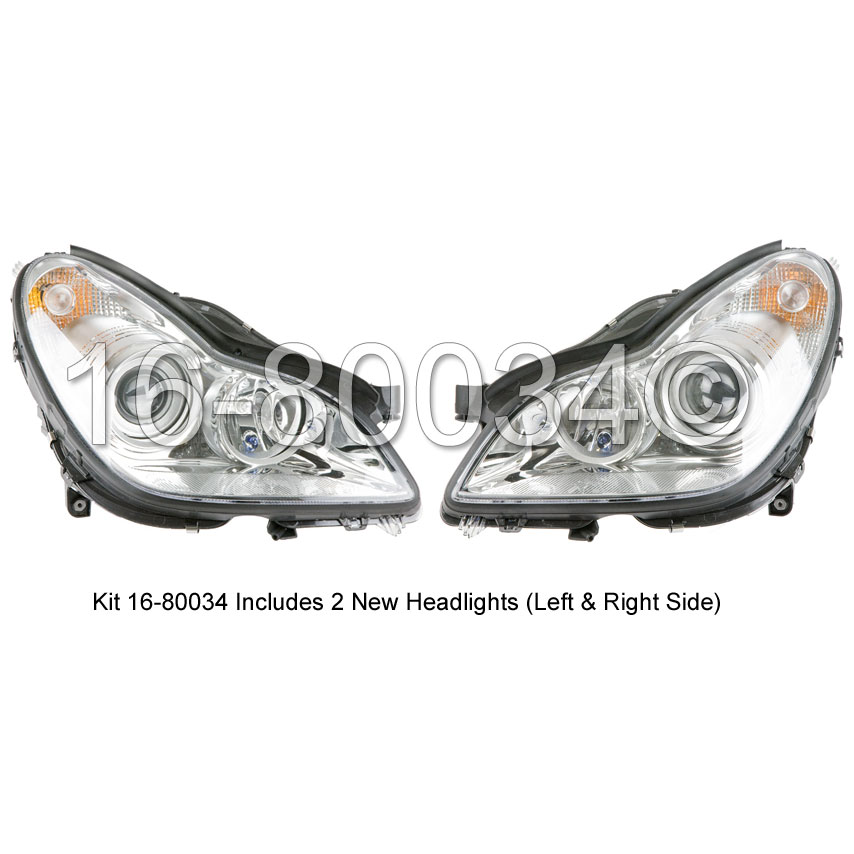 Mercedes Benz CLS550 Headlight Assembly Pair
