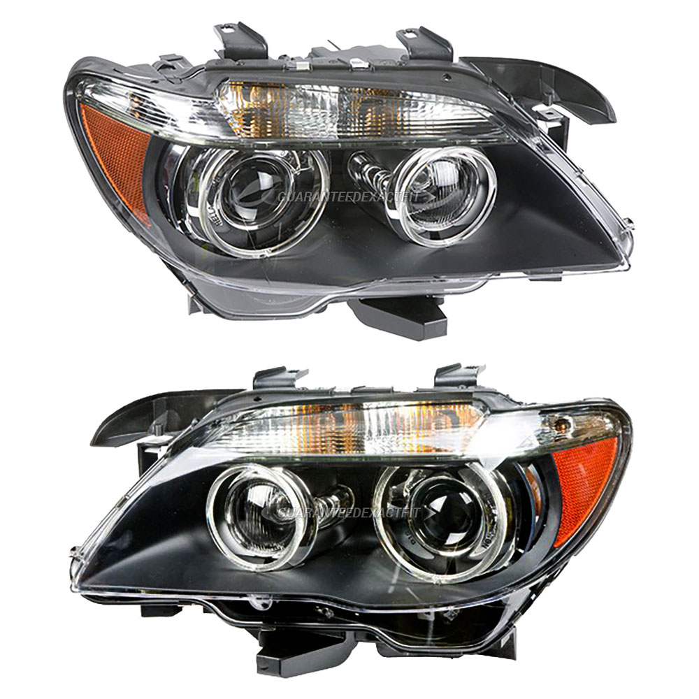 BMW 745 Headlight Assembly Pair