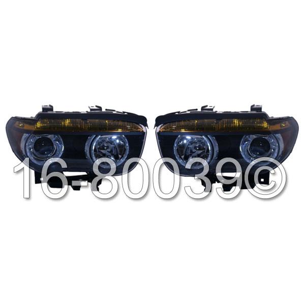 BMW 745 Headlight Assembly Pair