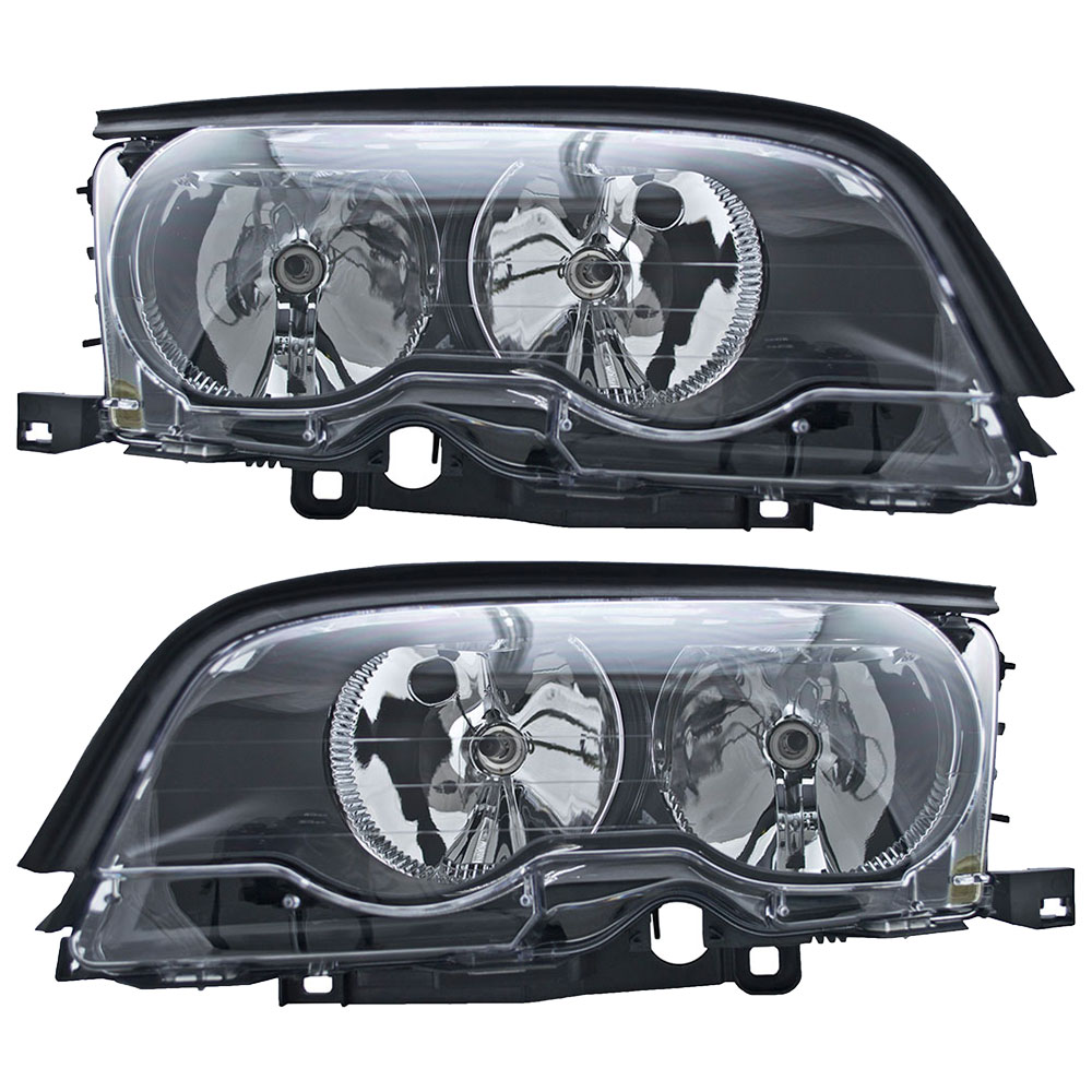 BMW 328Ci Headlight Assembly Pair