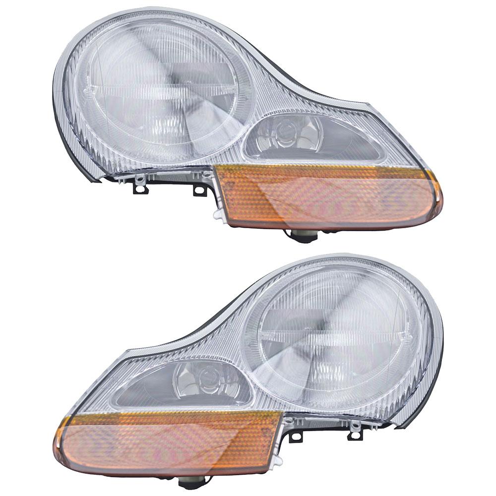 Porsche Boxster Headlight Embly Pair
