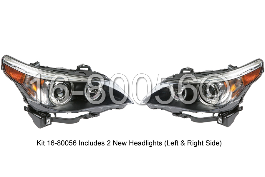 BMW 550 Headlight Assembly Pair