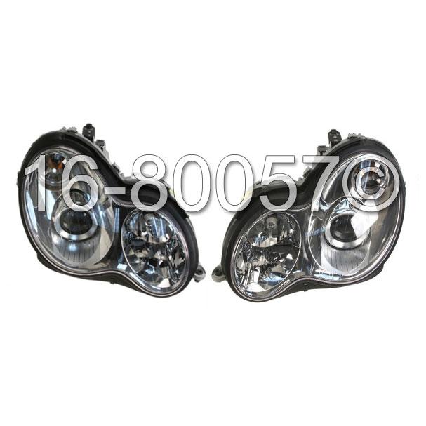 Mercedes_Benz C350 Headlight Assembly Pair