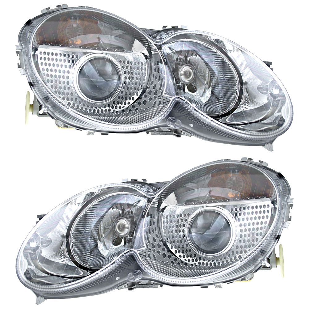 Mercedes Benz SL55 AMG Headlight Assembly Pair
