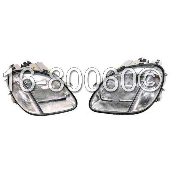 Mercedes Benz SLK320 Headlight Assembly Pair