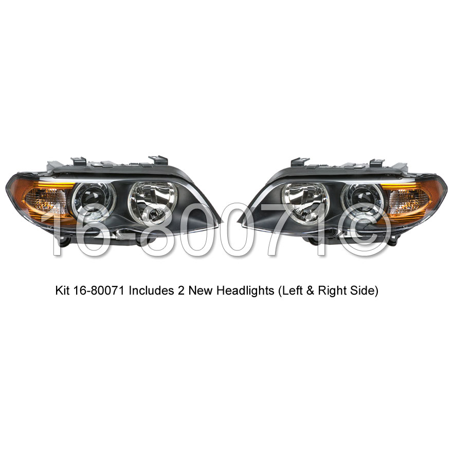BMW X5 Headlight Assembly Pair