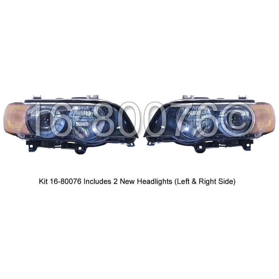 BMW X5 Headlight Assembly Pair