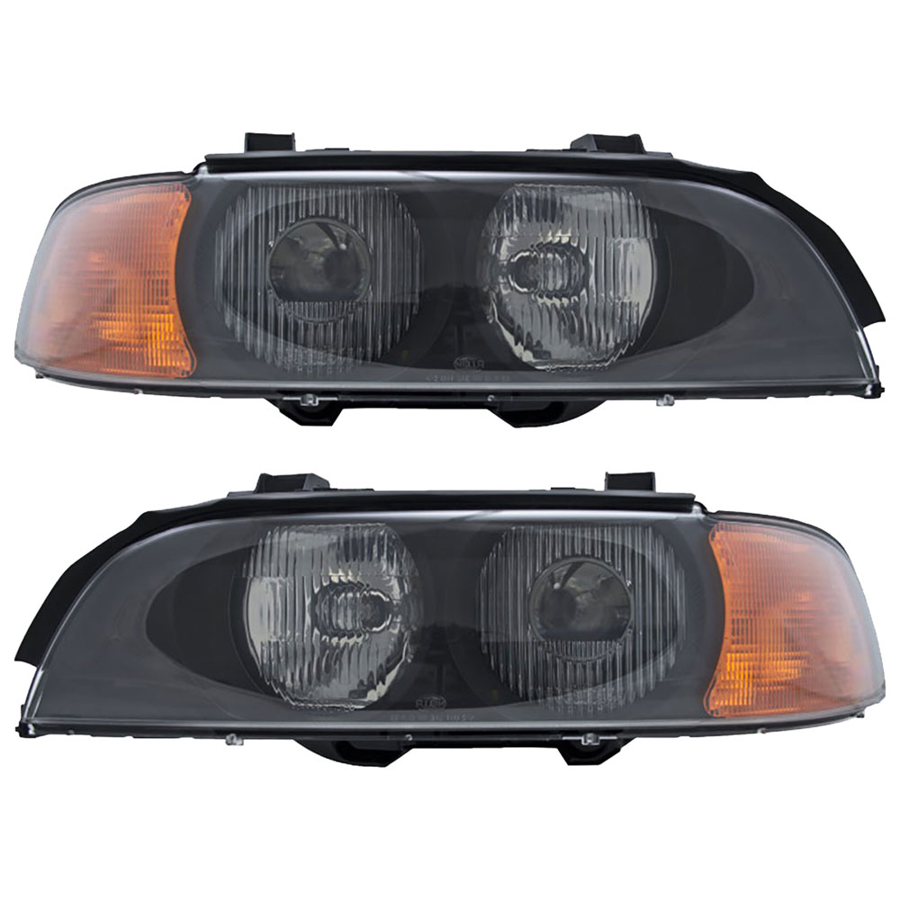BMW 528 Headlight Assembly Pair