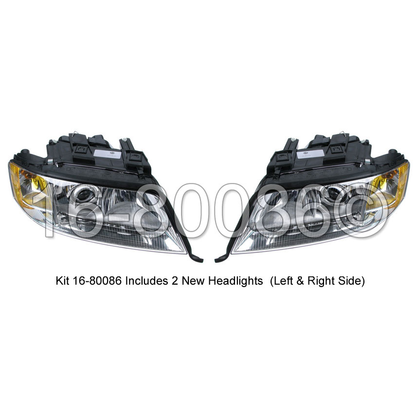 Audi A6 Headlight Assembly Pair