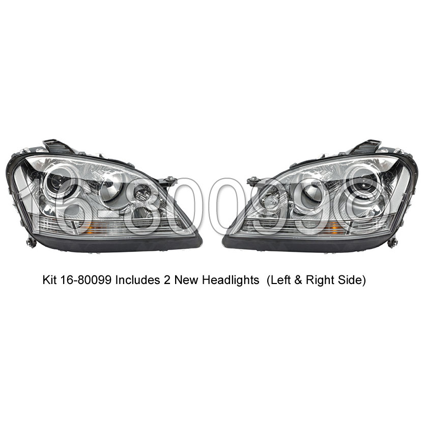 Mercedes_Benz ML320 Headlight Assembly Pair