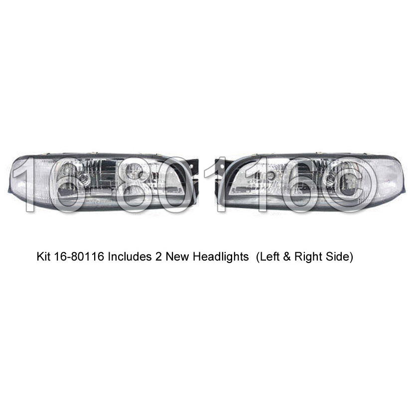Buick LeSabre Headlight Assembly Pair
