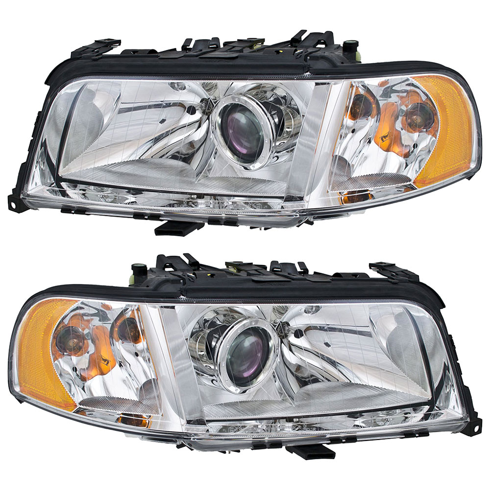 Audi S8 Headlight Assembly Pair