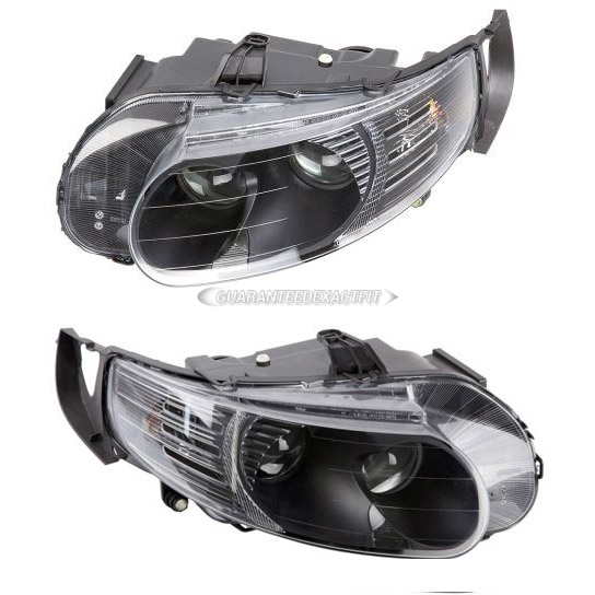 Saab  Headlight Assembly Pair