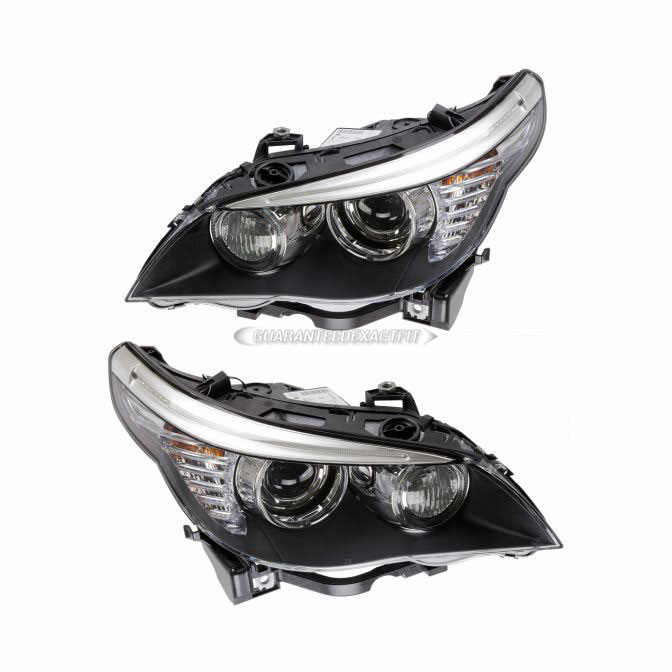 Bmw Xenon Headlights: Pair New Left + Right Genuine OEM Hella Xenon Headlights