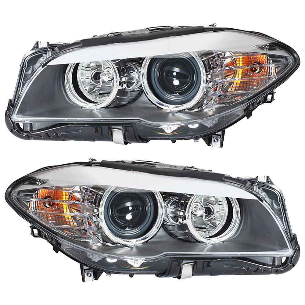 BMW 535i xDrive Headlight Assembly Pair