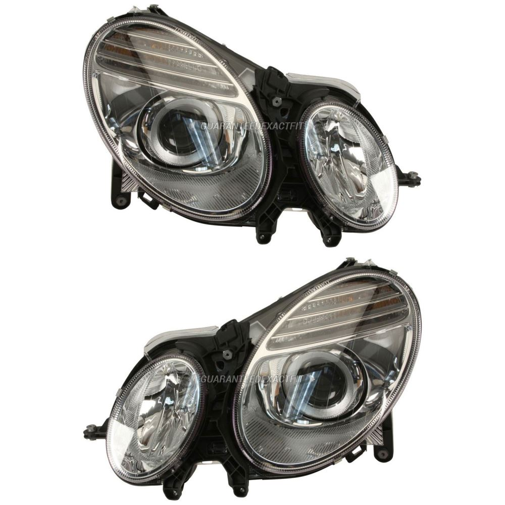 2008 Mercedes Benz E63 AMG Headlight Assembly Pair
