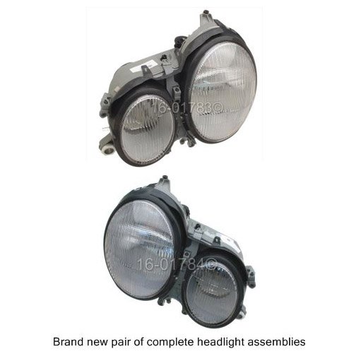 Mercedes_Benz E430 Headlight Assembly Pair