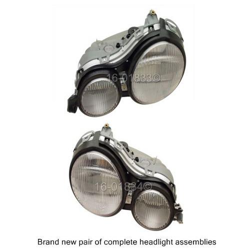 Mercedes_Benz E420 Headlight Assembly Pair