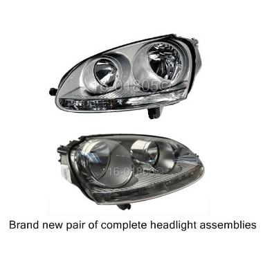 Volkswagen Jetta Headlight Assembly Pair
