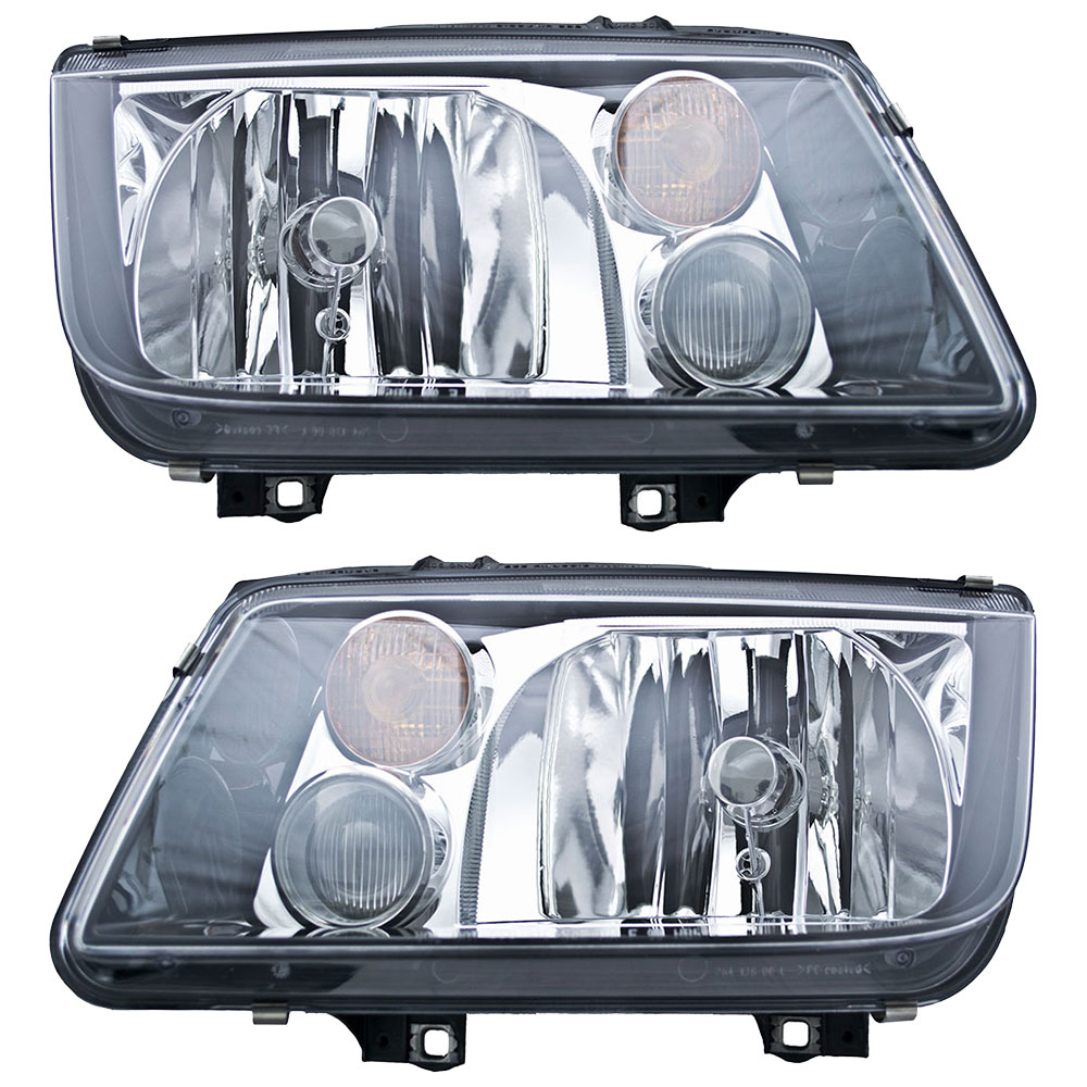 2002 Volkswagen Jetta Headlight Embly Pair