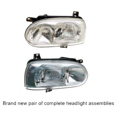 Volkswagen Golf Headlight Assembly Pair