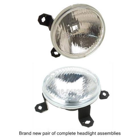 Volkswagen Cabriolet Headlight Assembly Pair
