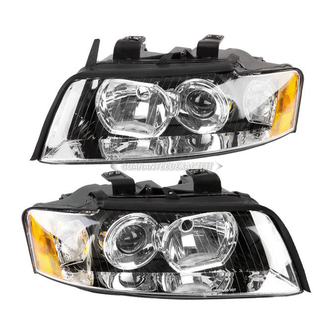 2002 Audi A4 Headlight Assembly Pair