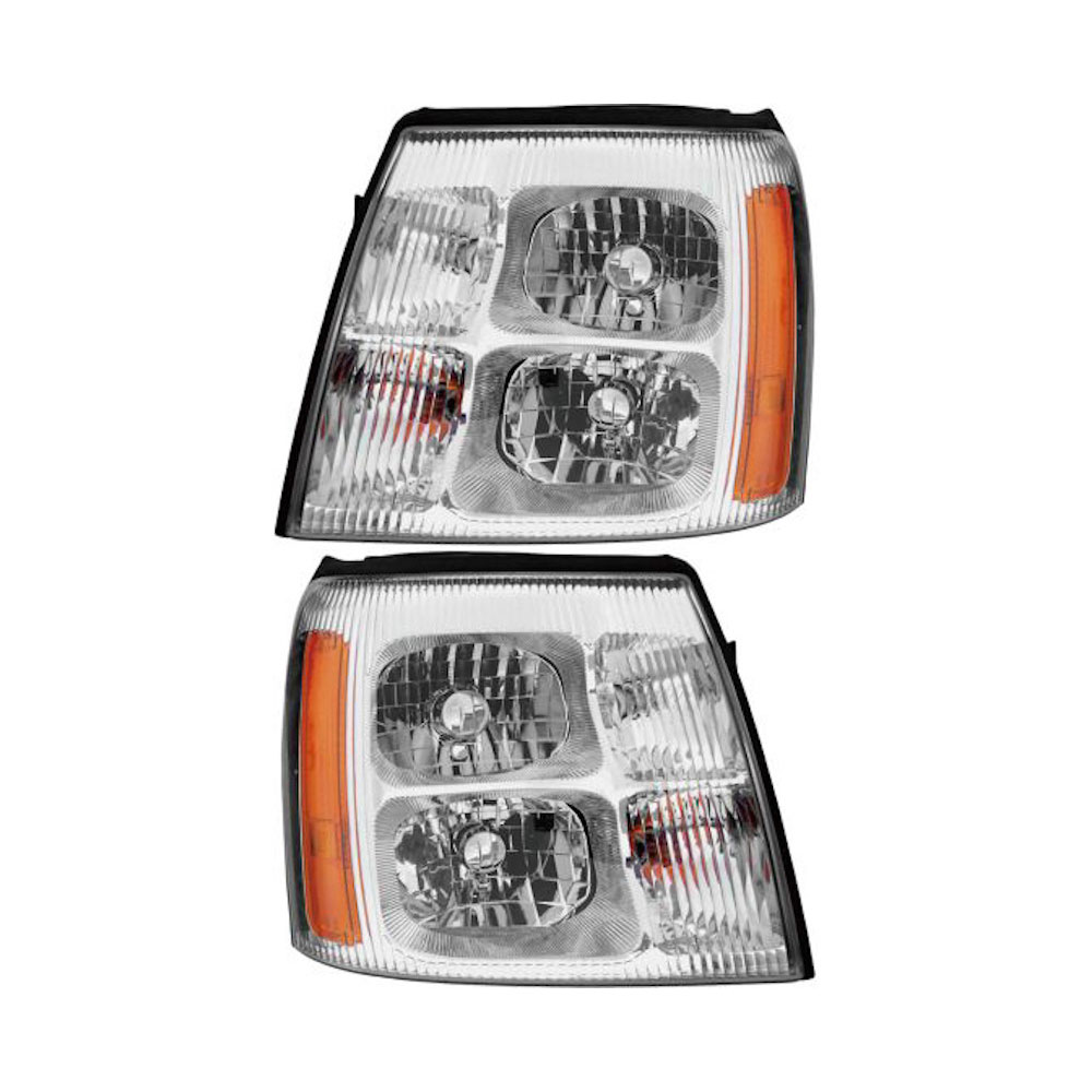 2004 Cadillac Escalade Headlight Assembly Pair Pair Of