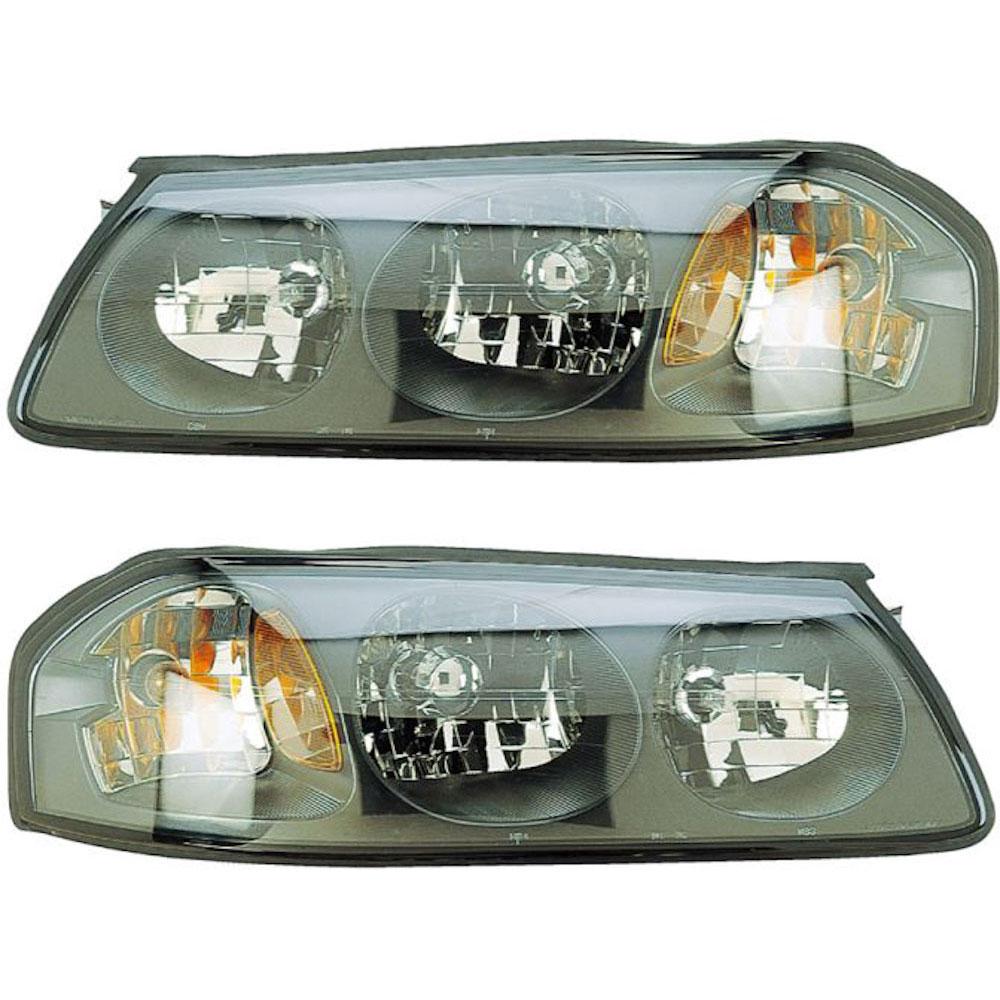 2002 Chevrolet Impala Headlight Embly Pair
