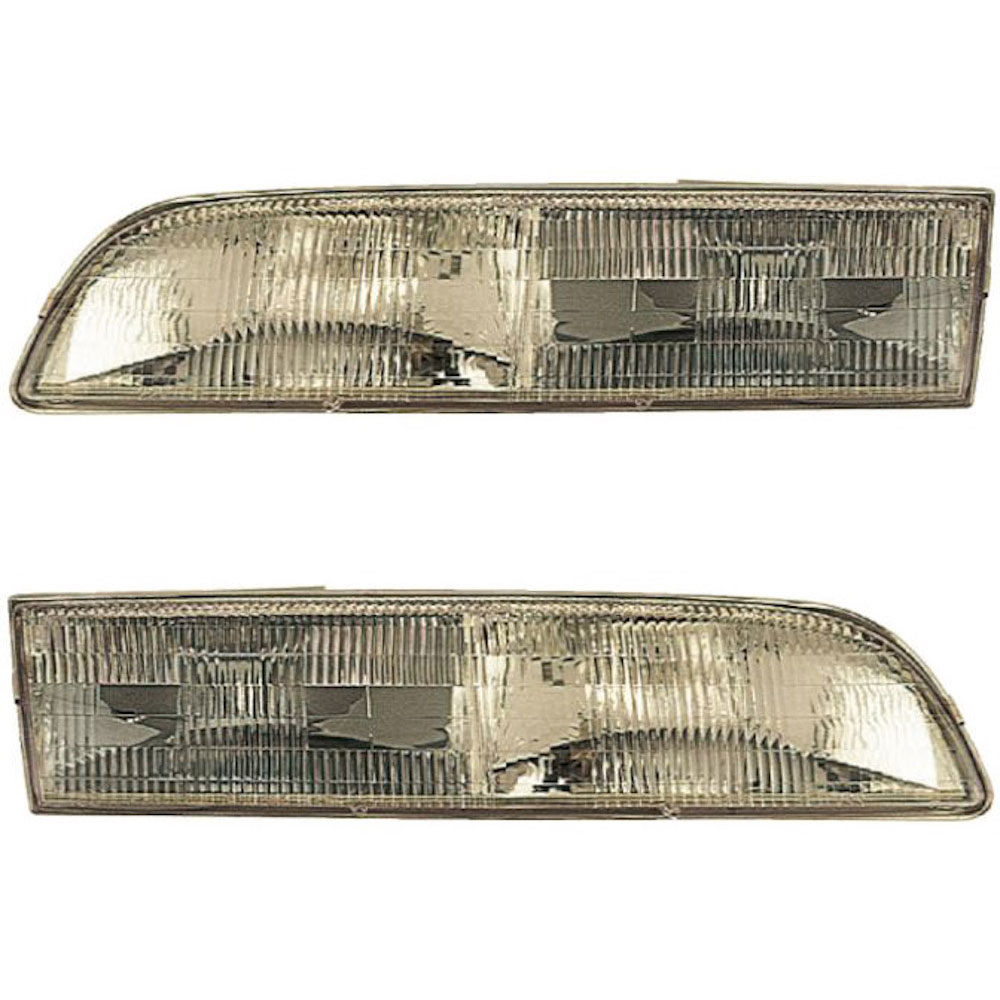 1992-1997 FORD CROWN VICTORIA Headlights Headlamps Left Right Sides Pair